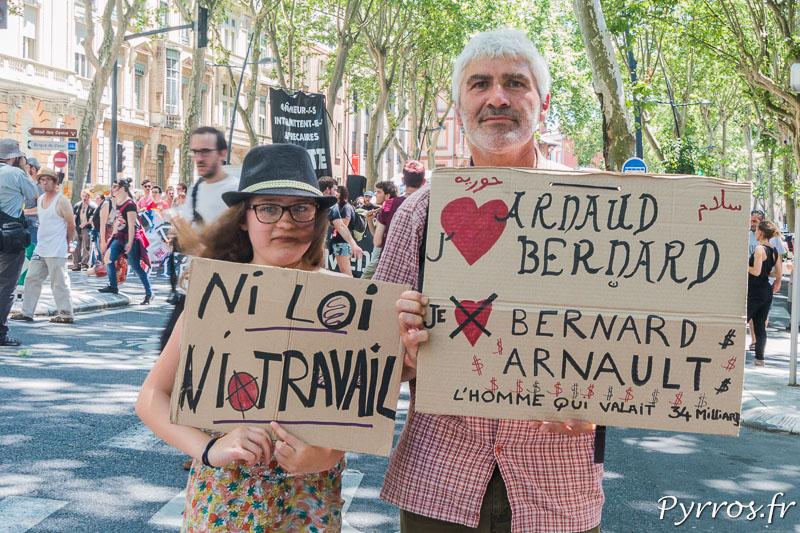 Certains manifestants sont venus en famille protester contre la loi travail