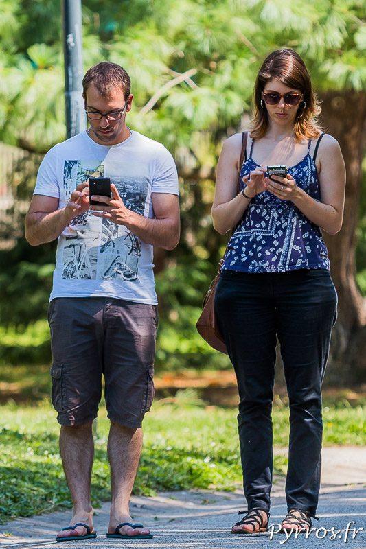Certains dresseurs se déplacent en couple pour capturer les pokemons