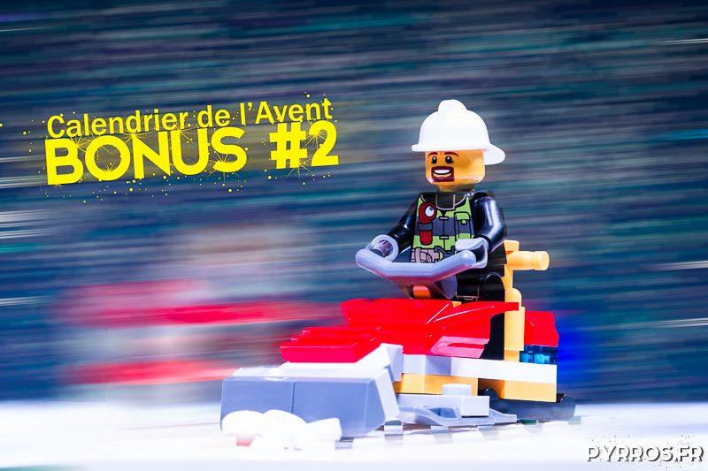 Calendrier de l'avent Lego 60133, Photo bonus : le pompier chasse neige