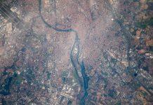 Toulouse le 22-2-2017 photographiée depuis ISS (Photo : Thomas Pesquet sous réserve)