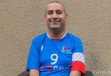 Tristan Delmas, attaquant de l'équipe de France porte le numéro 9