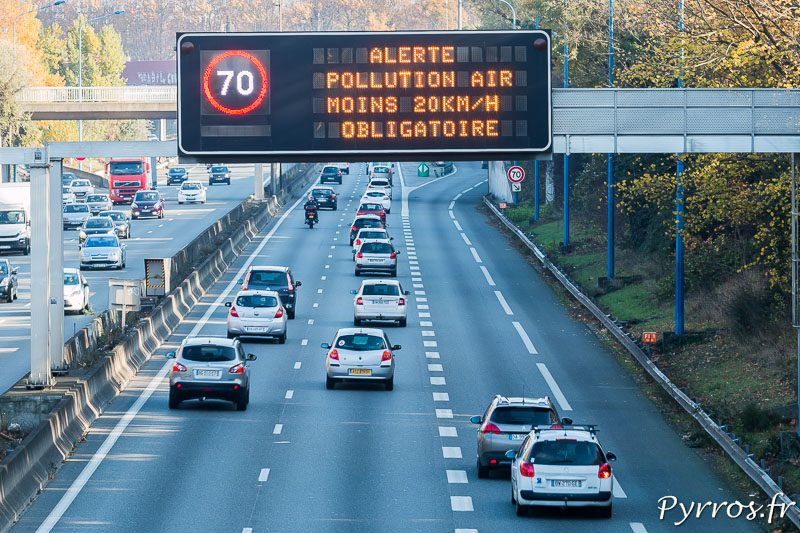 Pollution de l'air à Toulouse, la vitesse est réduite pour les véhicules