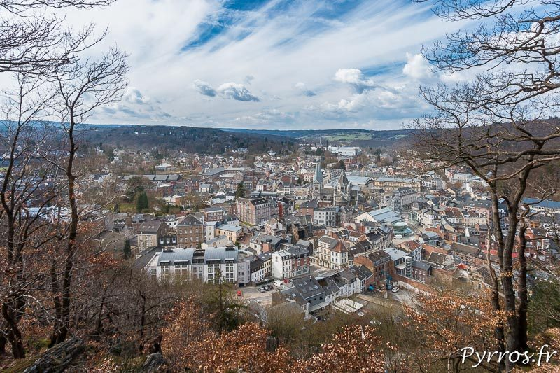 La ville de Spa vue des hauteurs de la ville