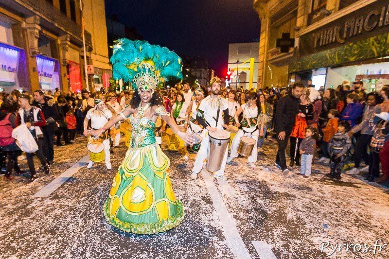 Carnaval 2018 de Toulouse, le brésil est présent dans le cortège