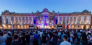 La Place du Capitole s'embrase au fil de la soirée pour la fete de la musique 2018