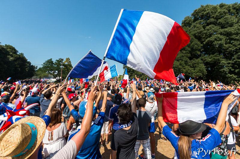 les supporters de la fan zone de Toulouse sont venus voir la victoire des Champions du Monde