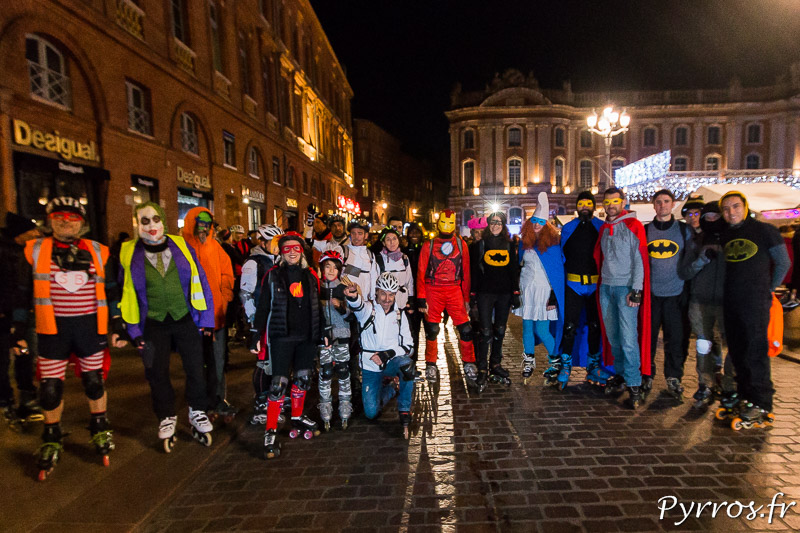 Un peu moins de 70 patineurs ont pris le départ de la randonnée super héros