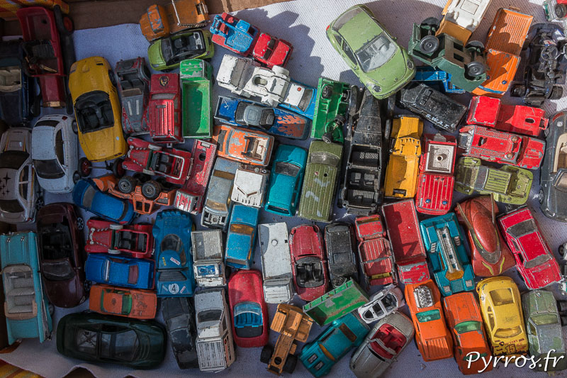 Un lot de voitures miniatures attirent le regard des plus jeunes et des collectionneurs