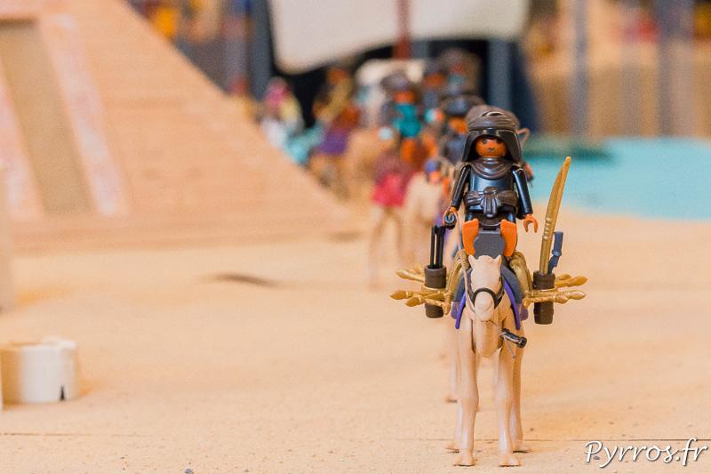 Une caravane du dioramas des égyptiens Playmobil