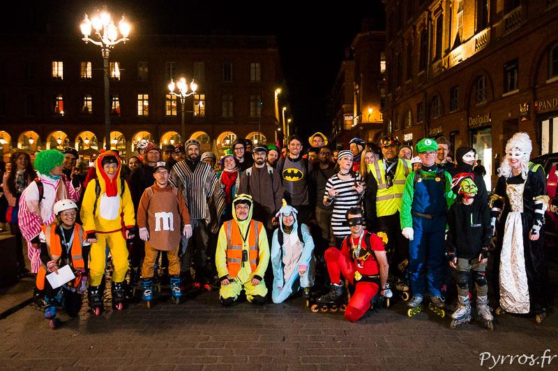 70 patineurs ont pris le départ du Carnaval 2019 de Roulez Rose