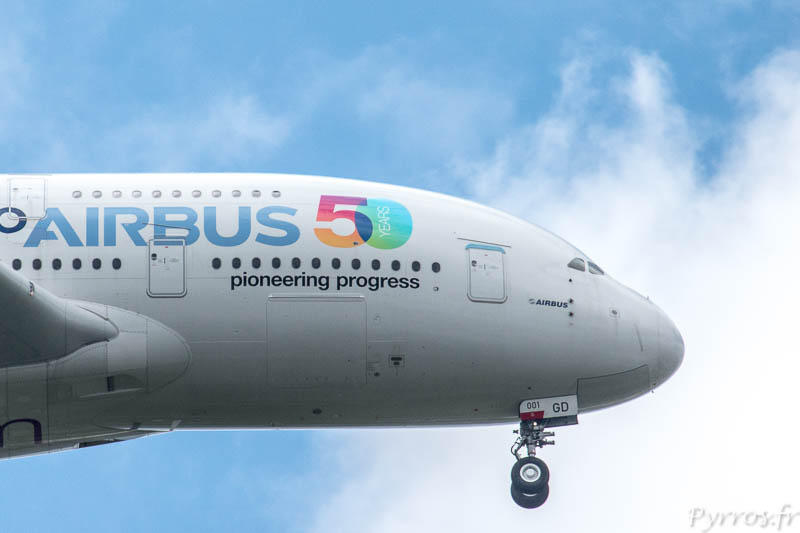 Airbus Family flight, A380 Airbus 50 ans