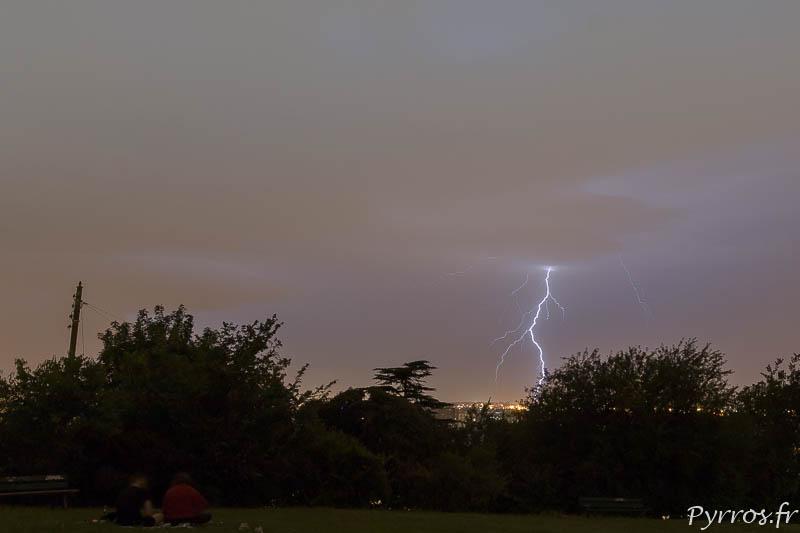 Un orage passe sur Toulouse