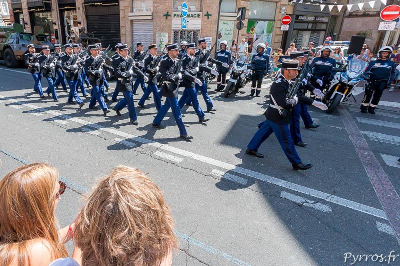 Défilé des gendarmes pour le 14 juillet à Toulouse