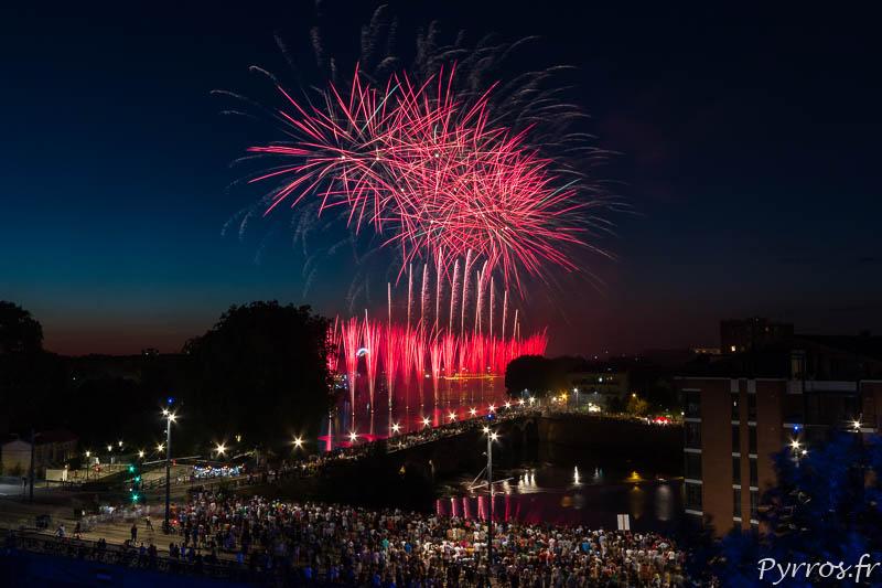 Feu d'artifice du 14 juillet 2019 pour la Fête Nationale