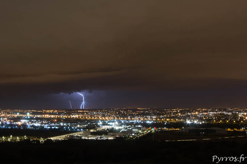 L'activité électrique se rapproche de Toulouse lors du deuxième orage de la soirée