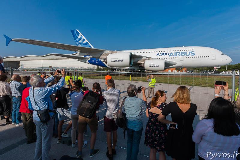 L'Airbus A380 F-WXXL rejoint le musée Aéroscopia à Blagnac