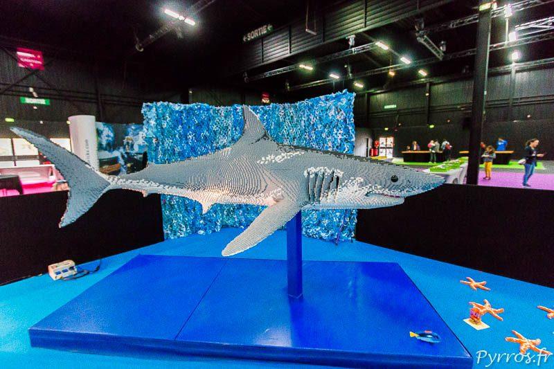 Un requin de 62'533 briques est visible au Bricklive de Toulouse